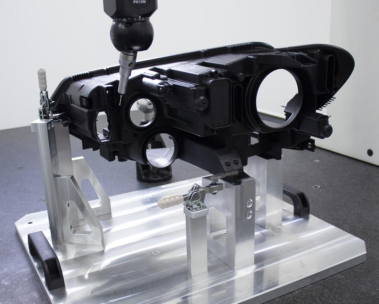 Quality control in plastic part in CMM machine