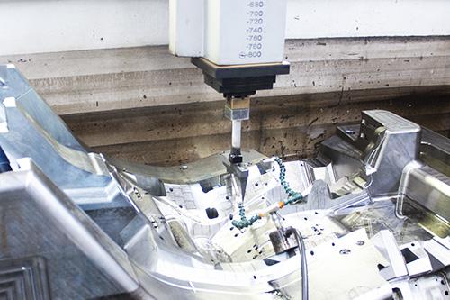 mould in EDM machine 1