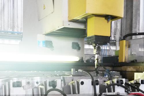 mould in EDM machine