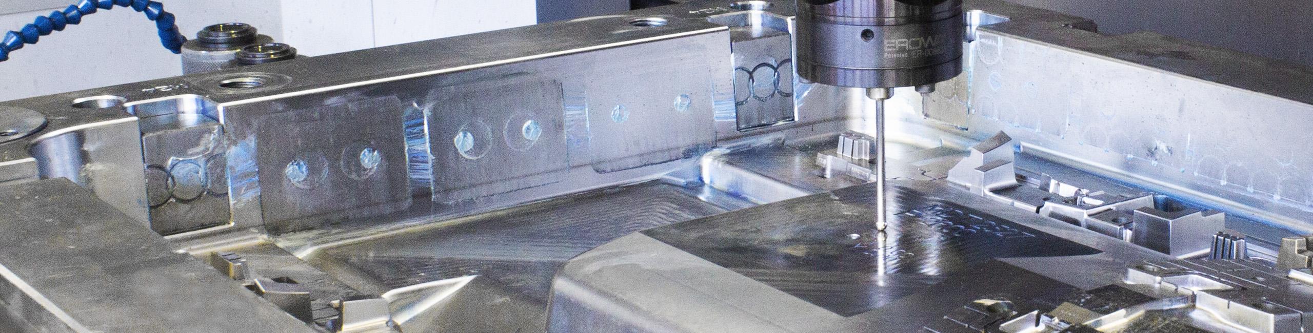 steel mold in EDM machine